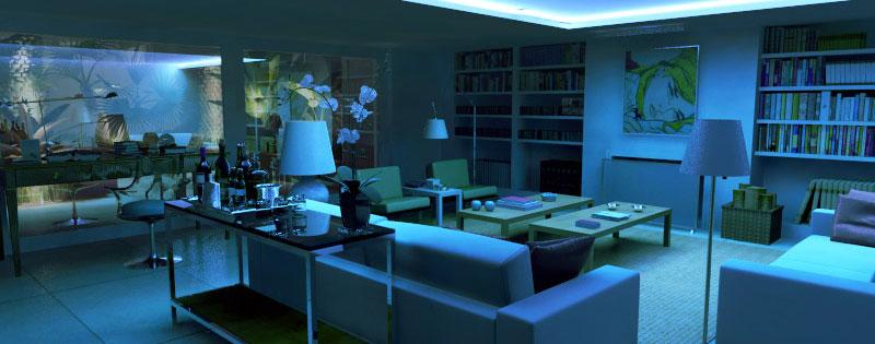 Iluminação dirigida: efeito